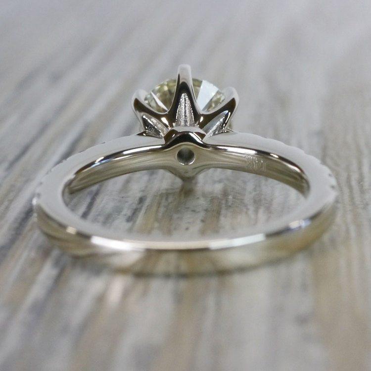 Stunning Six-Prong Round Cut Diamond Band Ring angle 4