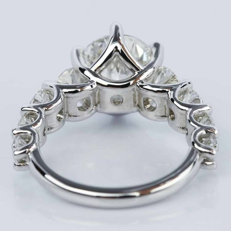Stunning Nine-Diamond Trellis Engagement Ring in 14K White Gold (2.40 ct.) angle 4