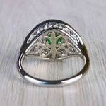 Stunning Vintage Art Deco Round Emerald Ring  - small angle 4