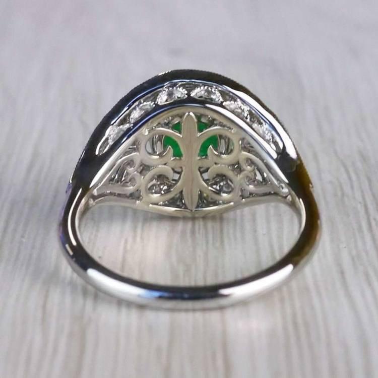 Stunning Vintage Art Deco Round Emerald Ring  angle 4