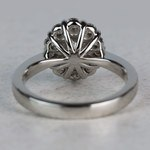 Summer Floral Halo Oval Diamond Engagement Ring - small angle 4