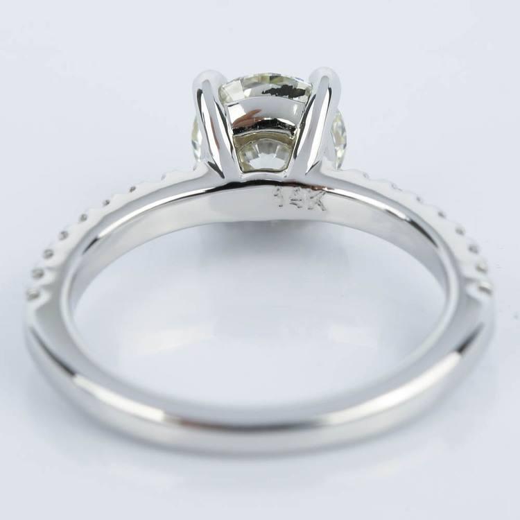 Super Ideal 1 Carat Diamond Engagement Ring angle 4
