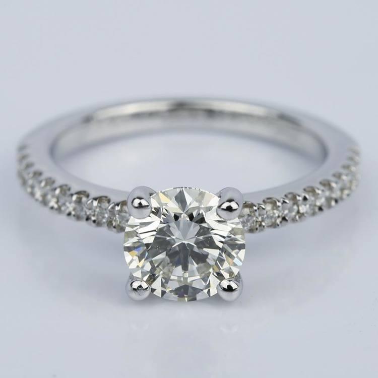 Super Ideal 1 Carat Diamond Engagement Ring