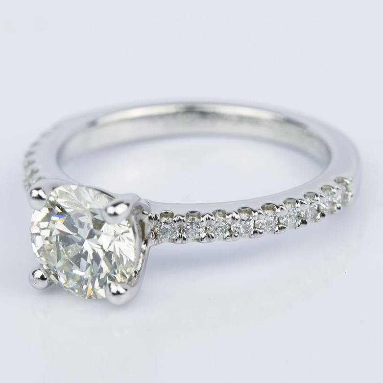 Super Ideal 1 Carat Diamond Engagement Ring angle 2