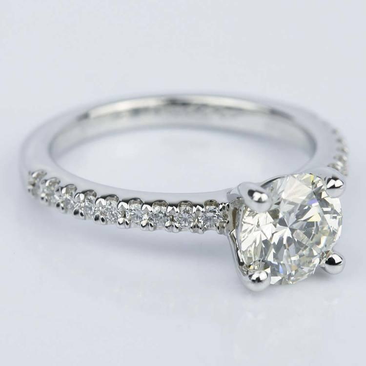 Super Ideal 1 Carat Diamond Engagement Ring angle 3