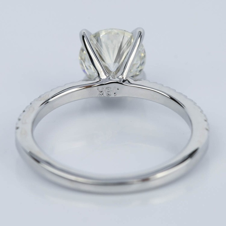 Super Ideal Round-Cut Diamond with Pave Ring Setting (1.38 ct.) angle 4