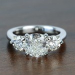 Surprise Three Stone Custom 1.72 Carat Cushion Diamond Engagement Ring - small