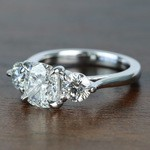 Surprise Three Stone Custom 1.72 Carat Cushion Diamond Engagement Ring - small angle 2