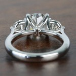 Surprise Three Stone Custom 1.72 Carat Cushion Diamond Engagement Ring - small angle 4