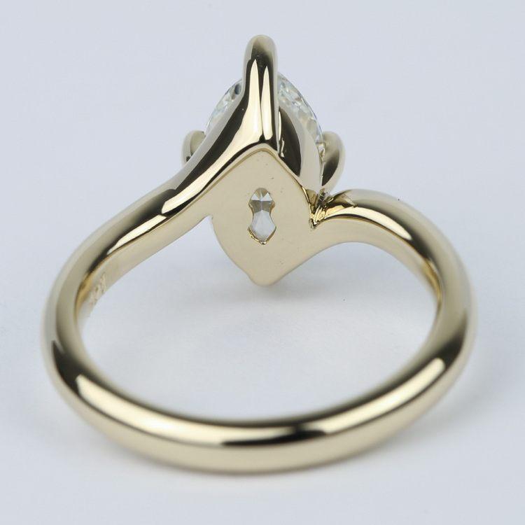 Swirl Style Marquise Diamond Engagement Ring angle 4