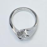 Swirl Style Custom 0.80 Carat Round Solitaire Diamond Engagement Ring - small angle 4
