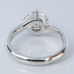 Swirl Style Diamond Solitaire Engagement Ring (1.31 ct.) - small angle 4