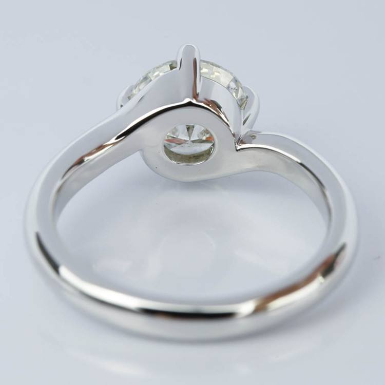 Swirl Style Diamond Solitaire Engagement Ring (1.31 ct.) angle 4