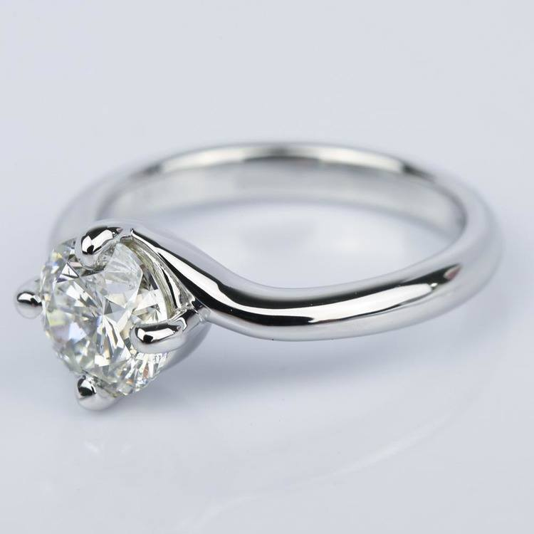 Swirl Style Diamond Solitaire Engagement Ring (1.31 ct.) angle 3