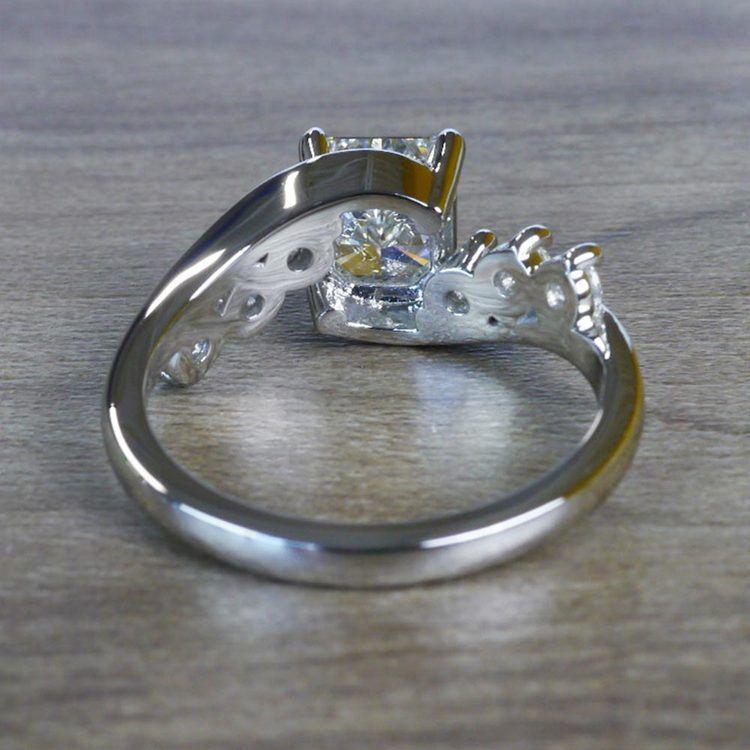 Swirl Style Radiant Diamond Engagement Ring angle 4
