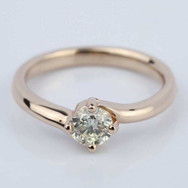 Swirl Style Solitaire Diamond Engagement Ring (0.50 ct.)