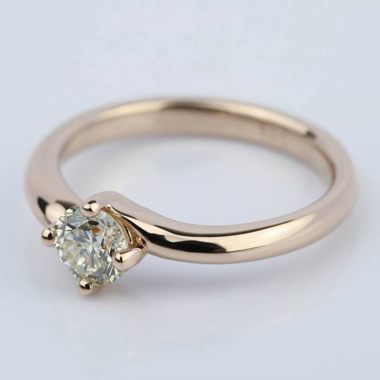 Swirl Style Solitaire Diamond Engagement Ring (0.50 ct.) angle 2