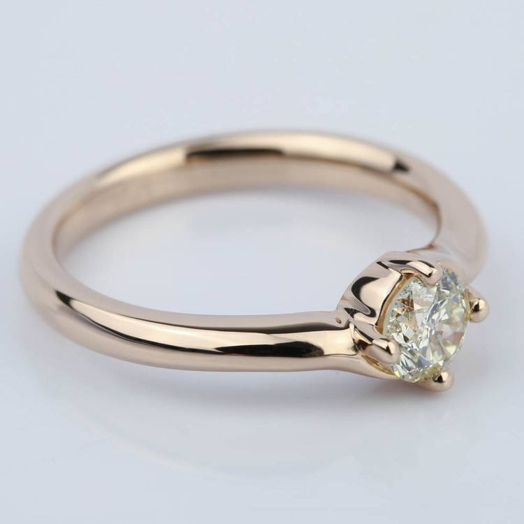 Swirl Style Solitaire Diamond Engagement Ring (0.50 ct.) angle 3