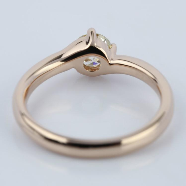 Swirl Style Solitaire Diamond Engagement Ring (0.50 ct.) angle 4
