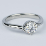Swirl Style Round Diamond Solitaire Engagement Ring (0.81 ct.) - small angle 3