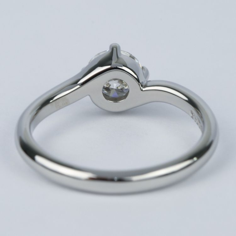Swirl Style Round Diamond Solitaire Engagement Ring (0.81 ct.) angle 4