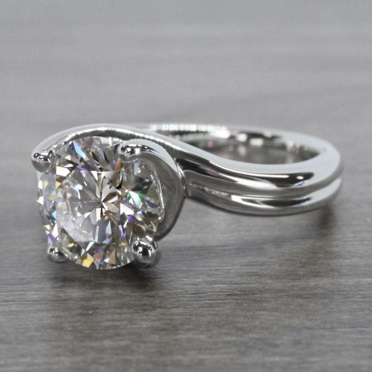 Swirl Styled 2 Carat Diamond Ring angle 2