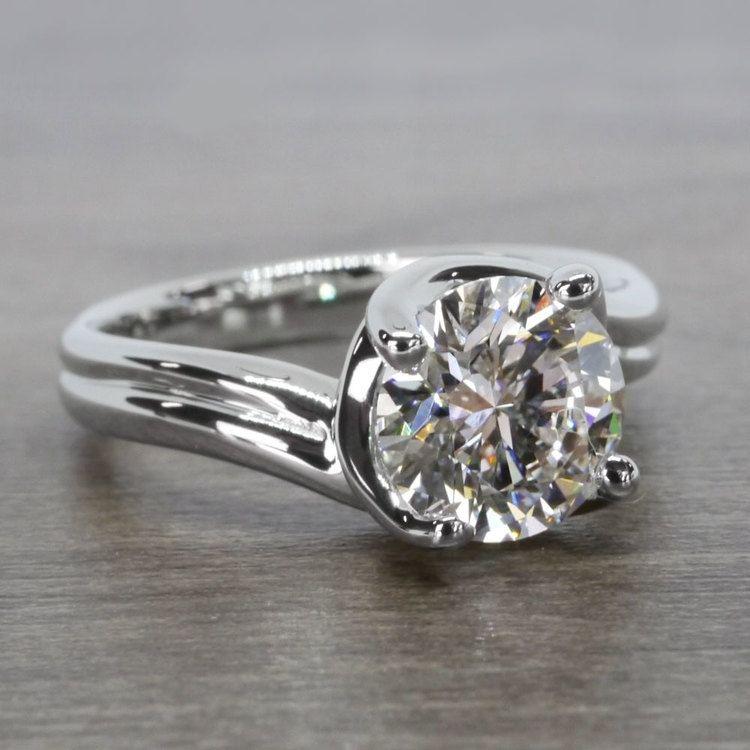 Swirl Styled 2 Carat Diamond Ring angle 3