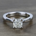 Taper 1.23 Carat Cushion Solitaire Diamond Engagement Ring - small