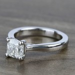 Taper 1.23 Carat Cushion Solitaire Diamond Engagement Ring - small angle 2