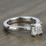 Taper 1.23 Carat Cushion Solitaire Diamond Engagement Ring - small angle 3