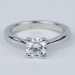 D Color Solitaire Diamond Engagement Ring (0.96 ct.) - small
