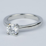 D Color Solitaire Diamond Engagement Ring (0.96 ct.) - small angle 2