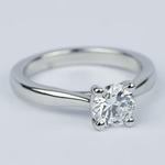 D Color Solitaire Diamond Engagement Ring (0.96 ct.) - small angle 3