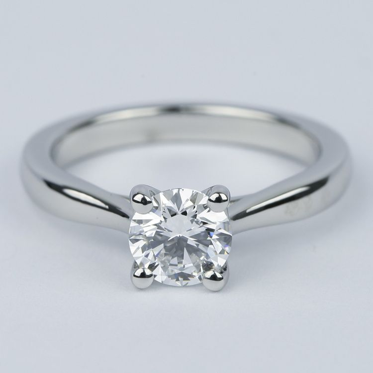 D Color Solitaire Diamond Engagement Ring (0.96 ct.)