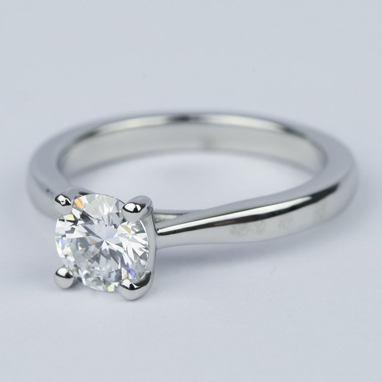 D Color Solitaire Diamond Engagement Ring (0.96 ct.) angle 2