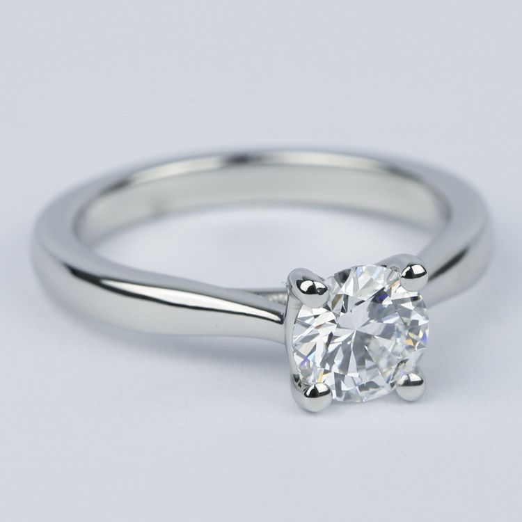D Color Solitaire Diamond Engagement Ring (0.96 ct.) angle 3