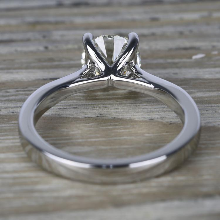 Flawless Diamond Solitaire Taper Engagement Ring (1.24 ct.) angle 4