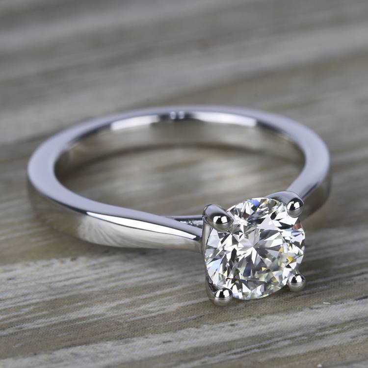 Flawless Diamond Solitaire Taper Engagement Ring (1.24 ct.) angle 3