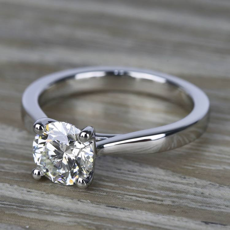 Flawless Diamond Solitaire Taper Engagement Ring (1.24 ct.) angle 2