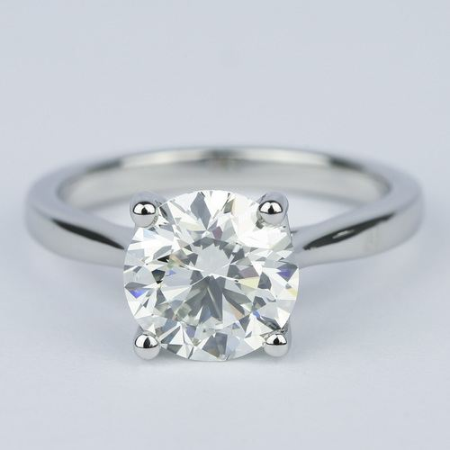 taper solitaire engagement ring 3 carat