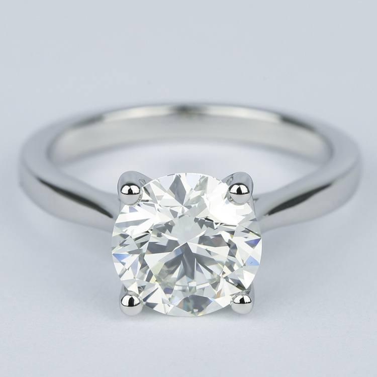 3 Carat Round Diamond Solitaire Engagement Ring
