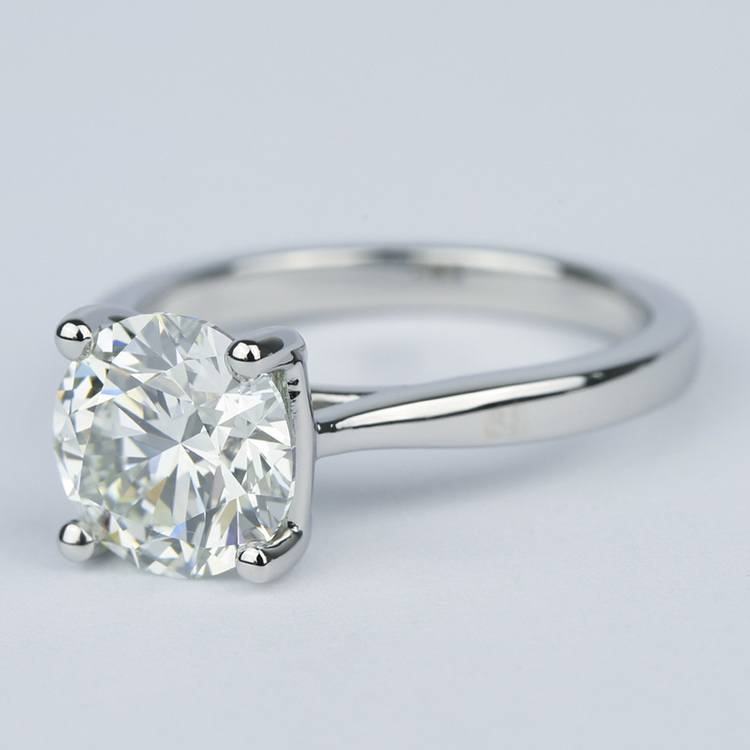 3 Carat Taper Solitaire Engagement Ring angle 2
