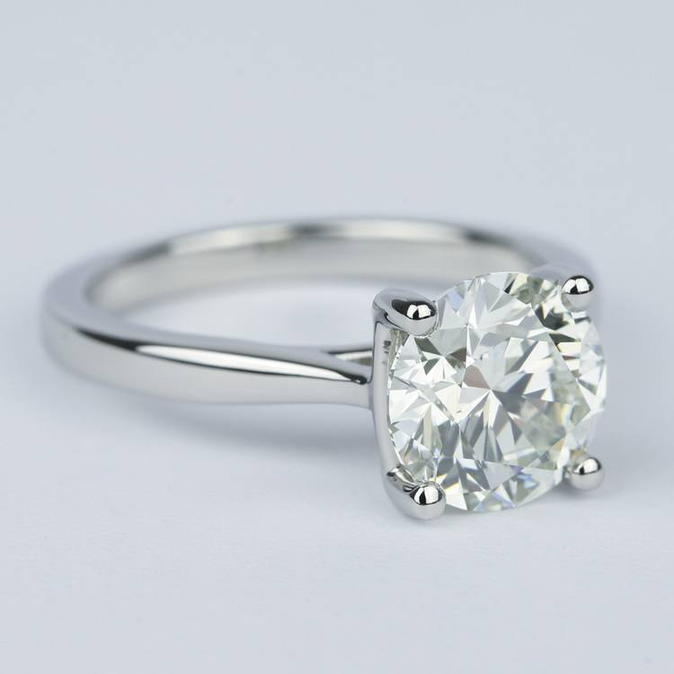 3 Carat Taper Solitaire Engagement Ring angle 3