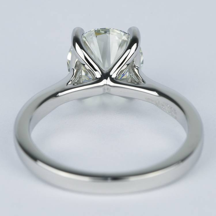 3 Carat Round Diamond Solitaire Engagement Ring angle 4