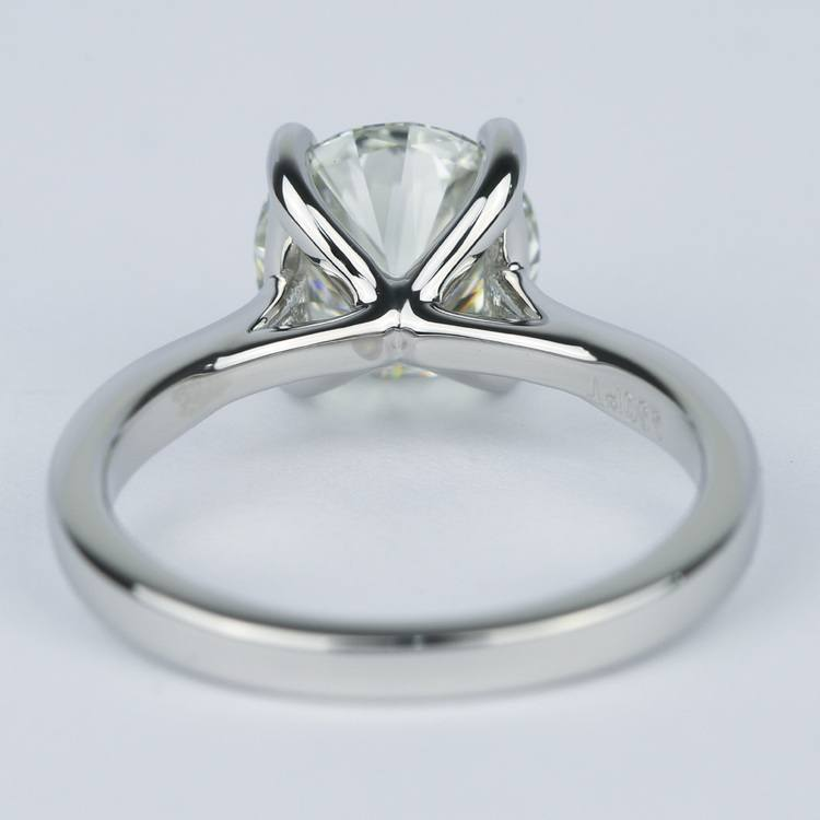 3 Carat Taper Solitaire Engagement Ring angle 4