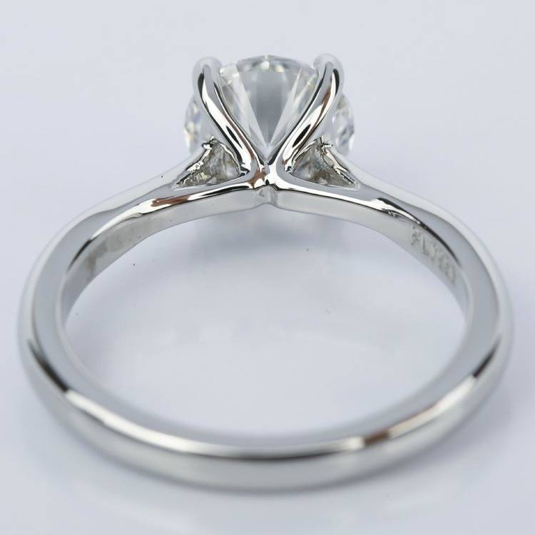 Taper Solitaire Diamond Engagement Ring in Platinum (1.57 ct.) angle 4