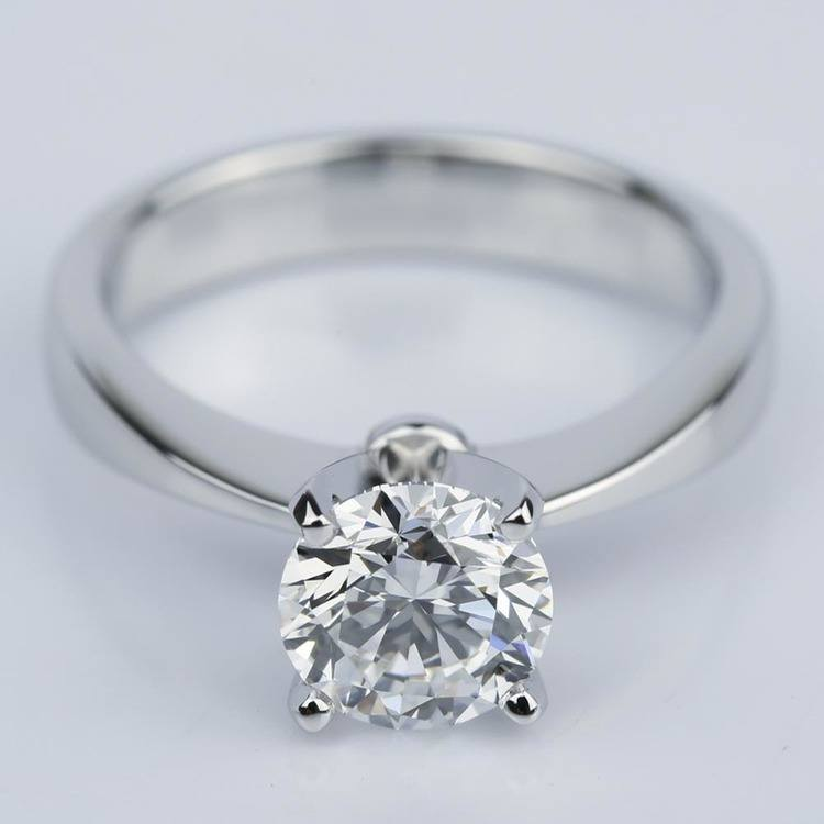 Taper Solitaire GIA Diamond Engagement Ring (1.45 ct.)