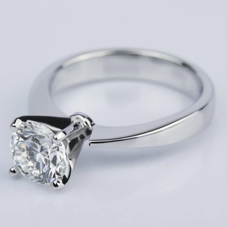 Taper Solitaire GIA Diamond Engagement Ring (1.45 ct.) angle 2