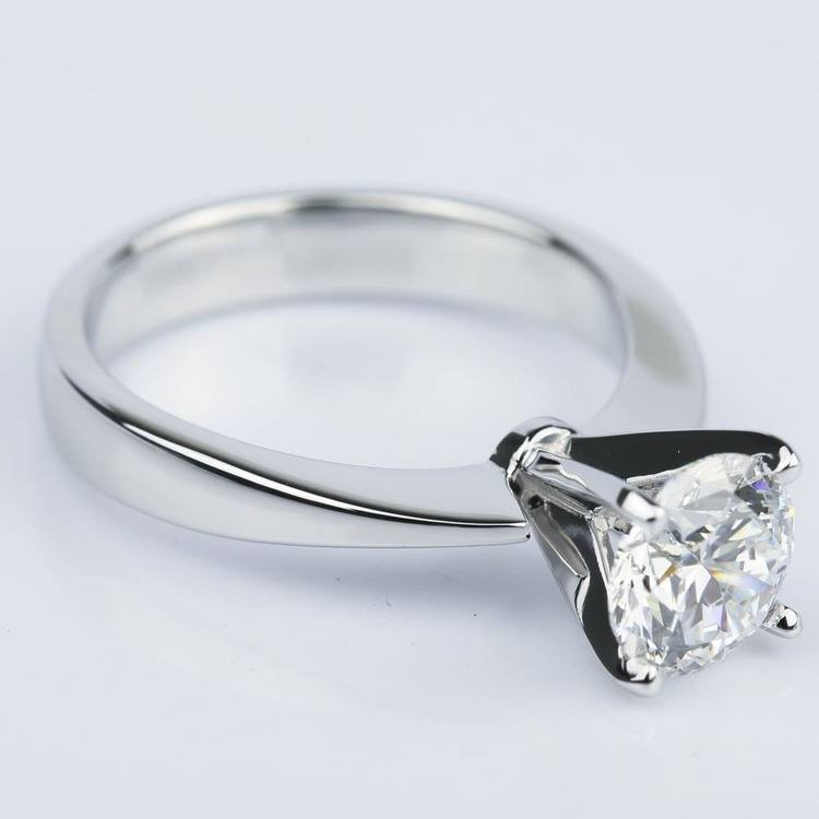 Taper Solitaire GIA Diamond Engagement Ring (1.45 ct.) angle 3