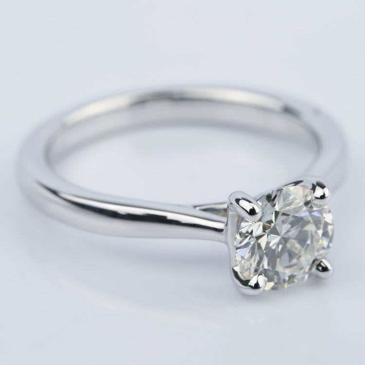 Taper Solitaire Round Cut Diamond Engagement Ring (1.05 ct.) angle 3